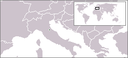 Location of San Marino