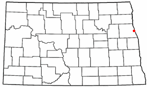 Location of Grand Forks, North Dakota