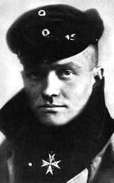 "Portrait of , the ""Red Baron"", who shot down 80 Allied aircraft before being shot down and killed on April 21, 1918. The Pour le Mérite medal is clearly in view here."
