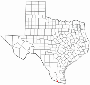 Location of Mission, Texas