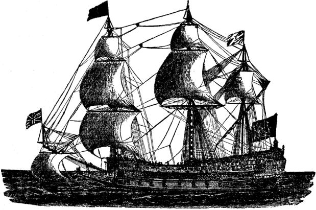 "Fig. 9, A picture of ""Sovereign of the Seas"", a British warship of 1637"