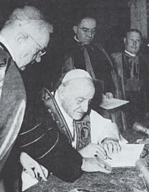 John XXIII signed his  Pacem in Terris.