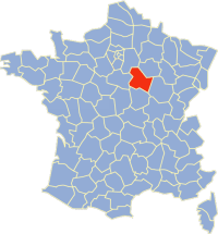 Location of  Yonne in France