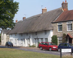 Thatched houses in , ,