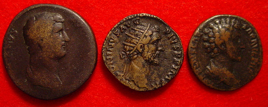 Sestertius of , dupondius of , and as of