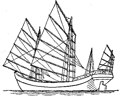 Fig. 4. picture of a Four-masted Junk.
