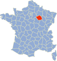 Location of Aube in France
