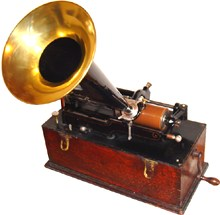 Edison cylinder phonograph from about 1899