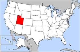 Map of the U.S. with Utah highlighted