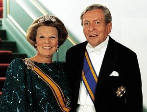 Claus von Amsberg with his wife, Queen Beatrix