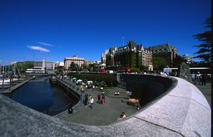 Victoria's Inner Harbour with The Empress hotel in the background.