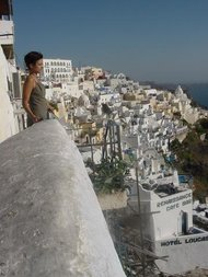 View from the top of Thira