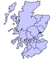 Dundee's location in Scotland