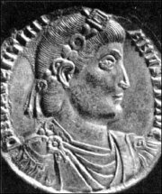 Medallion of Valentinian I (364-375) Thessalonika, 364-367