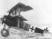 "The  (Dreidecker = ""three-wing"") was the mount of  and so became one of the best-known fighter planes of World War I"