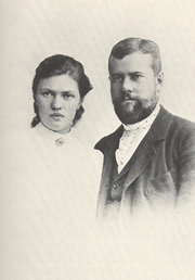 Max Weber and his wife Marianne in 1894.