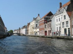 "Sometimes referred to as the """", Bruges has many waterways that run through the city."