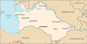 Map of Turkmenistan