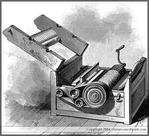 Cotton gin. Image provided by Classroom Clipart (http://classroomclipart.com)