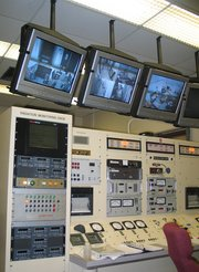 The control room of 's Pulstar Nuclear Reactor.