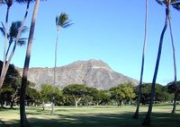 Diamond Head, a well-known backdrop to Waikiki in Hawaii, is an ash cone that solidified into tuff