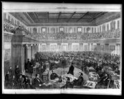 Harper's Weekly illustration of Johnson's impeachment trial in the .