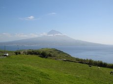Mount Pico in Pico Island as viewed from Faial Island.