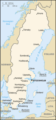 Location of Stockholm