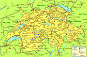 Map of Switzerland (detailed)