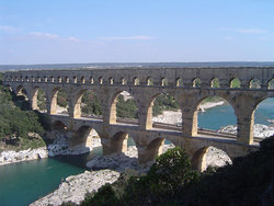 , , a  era aqueduct circa 19 BC, it is one of France's top tourist attractions at over 1.4 million visitors per year, and a .