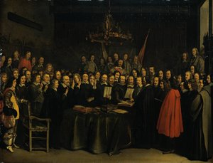 The Ratification of the Treaty of Münster by Gerard Terborch