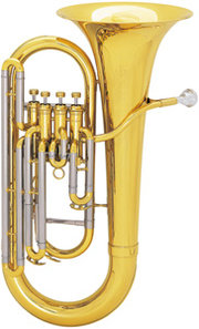 A typical 4-valved bell-upright euphonium