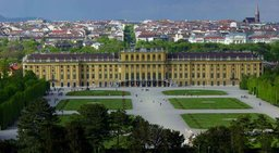 Schönbrunn Palace, as seen from the gardens