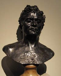 Rodin's bust of , bronze, (-), which he gave to the  in .