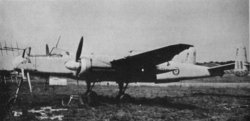 Captured Heinkel He 219A night-fighter wearing RAF roundels