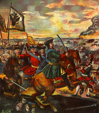 Battle of Poltava: fragment of the great  by .