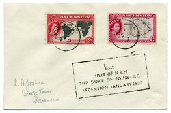 Cover mailed on occasion of a Royal visit by the , 1957