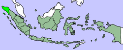 Map showing Aceh within Indonesia