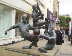 The Sports Statue on Gallowtree Gate
