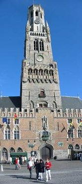 The  of Bruges is situated on a big marketplace.